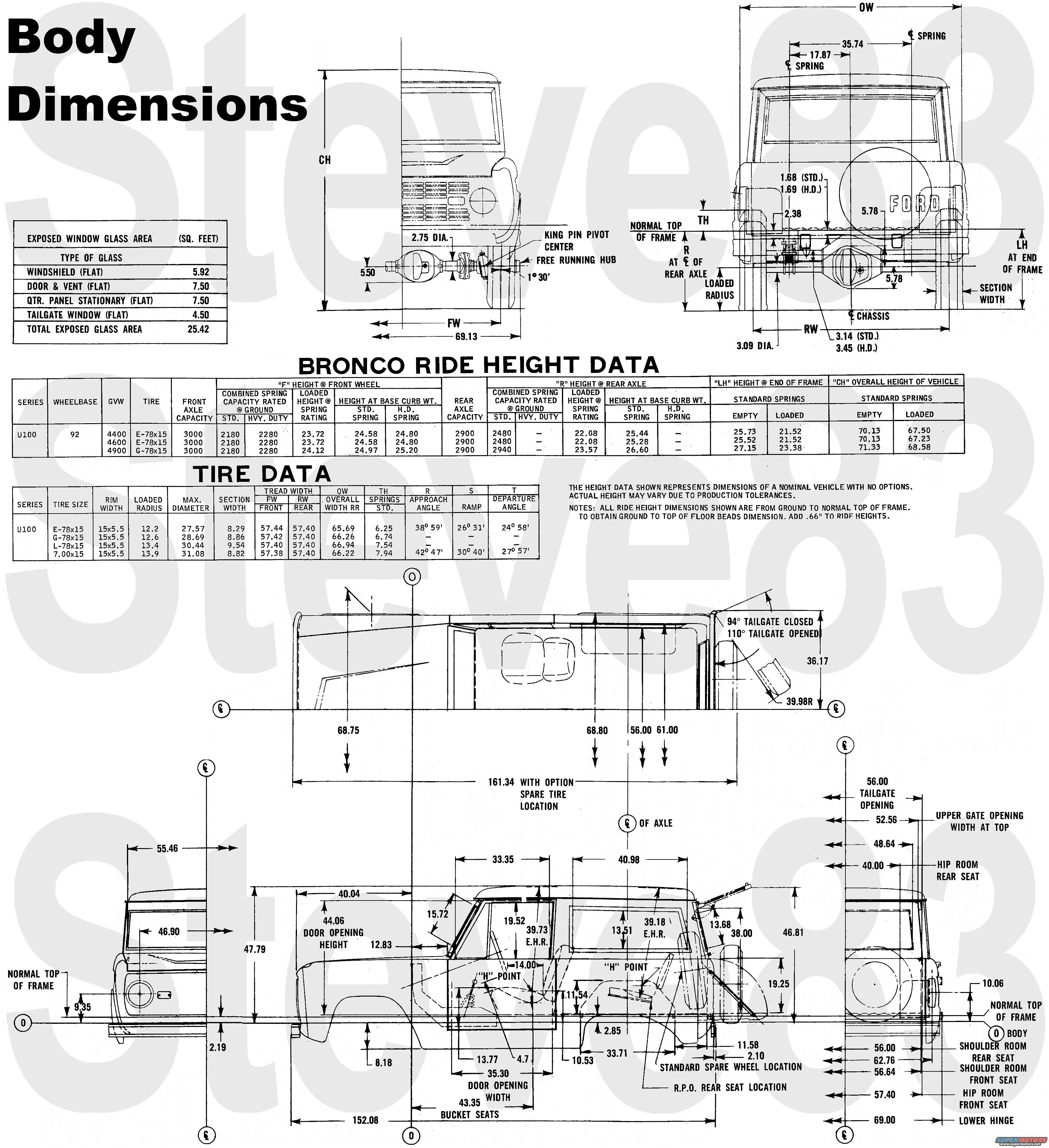 1976 Ford Bronco Tech Diagrams Picture Supermotors Net