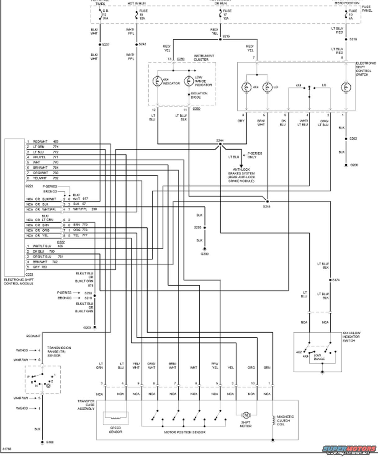 E4od Wiring Diagram 1992 1993 Ford E350 Wire Diagrams For 4wh System Bronco Forum Solenoid Pack Harness