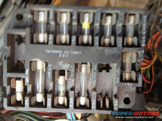1979 ford bronco fuse block pictures, videos, and sounds | supermotors.net  supermotors.net