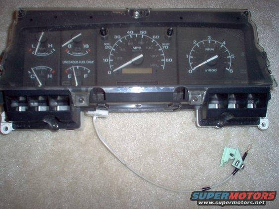 1983 Ford Bronco '87-96 Instruments, Low Fuel Light, Oil