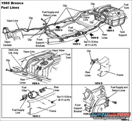 1983 ford bronco '90 96 fuel pump system pictures, videos, and ford 4.9 power steering pump 4 9 ford engine fuel rail diagram #20