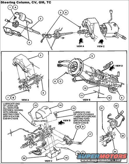 steeringcolumnassy alt= 1994 ford crown victoria steering column pictures, videos, and