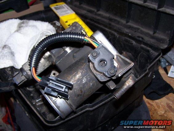 make sure you hook vac lines, coolant lines and sensor wires up