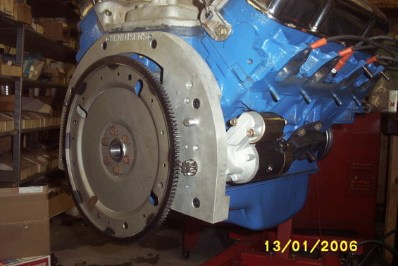 1967 Ford Galaxie FE to AOD adapter, 390 rebuild, AOD transmission picture | SuperMotors.net