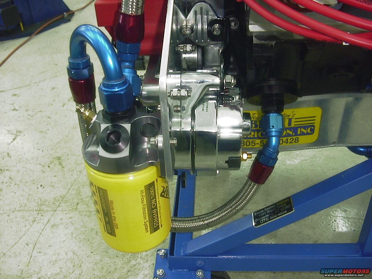 alternator mount set up with front engine plate Filter4