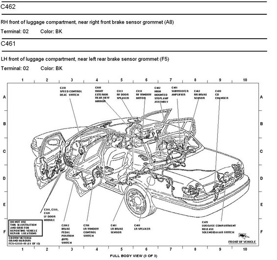 1996 Mercury Grand Marquis Panther Body  Chassis  Misc