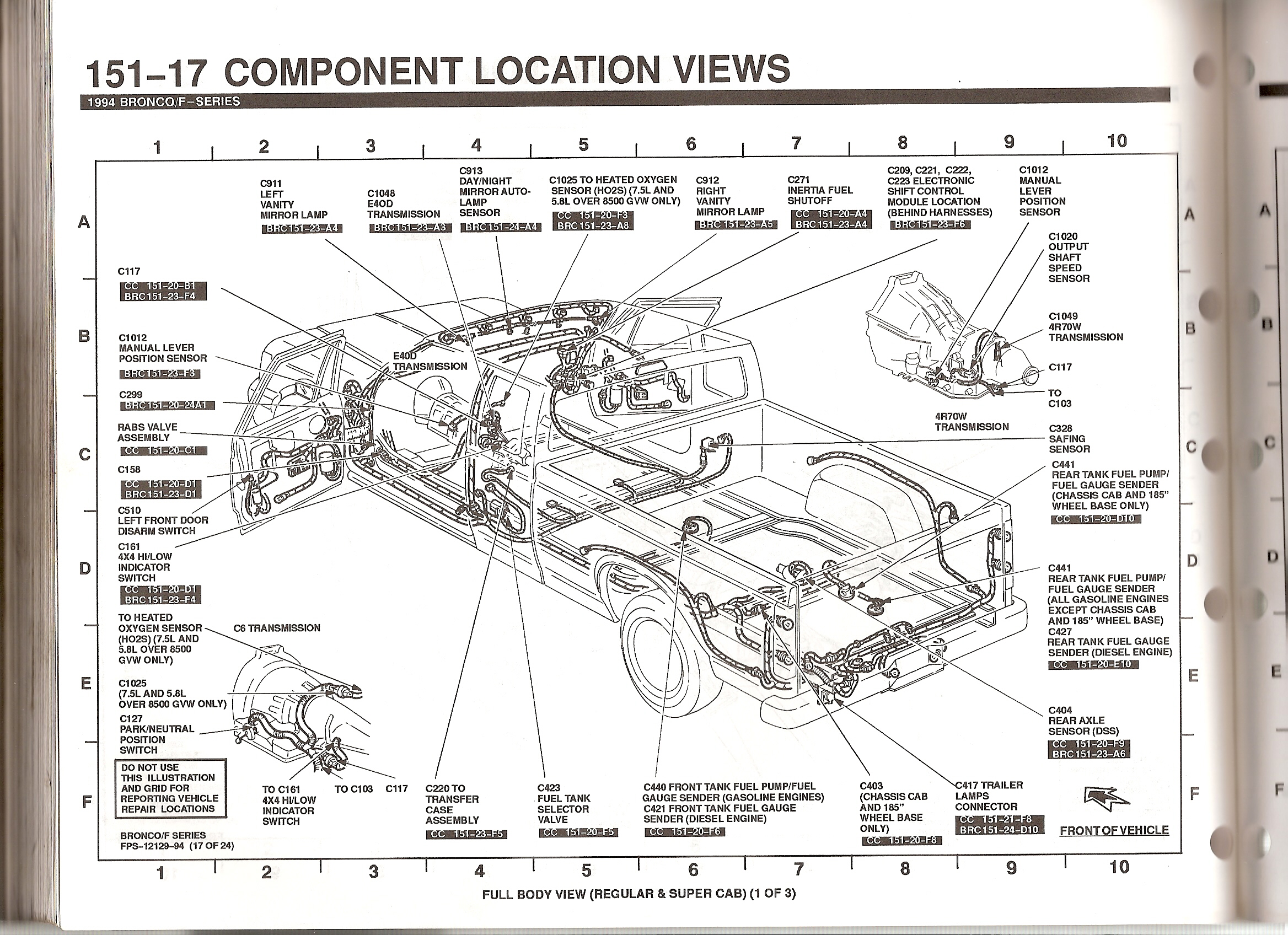 1994 Ford Bronco Overhead Console Wiring Diagram Picture 4r70w Transmission
