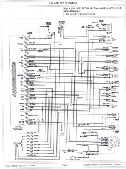 5.0 sefi eeciv wire diagram alt= 1985 ford crown victoria ltd wire diagrams pictures, videos, and ford premium sound wiring diagram at gsmx.co