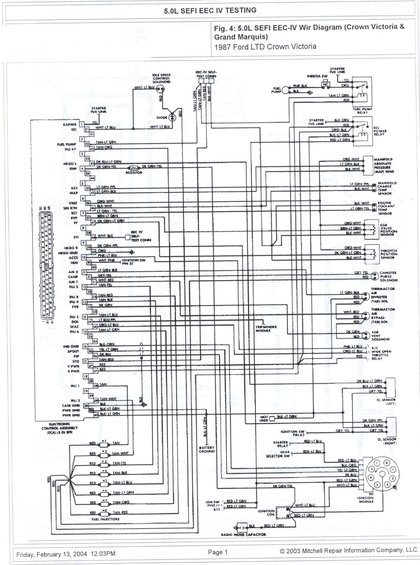 5.0 sefi eeciv wire diagram alt= 1985 ford crown victoria ltd wire diagrams pictures, videos, and eec iv wiring diagram at eliteediting.co