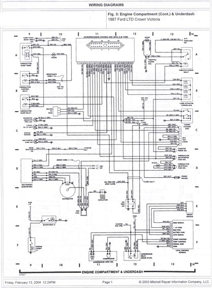 1985 ford crown victoria ltd wire diagrams pictures videos and rh supermotors net crown vic wiring diagram 2003 crown victoria wiring diagram manual