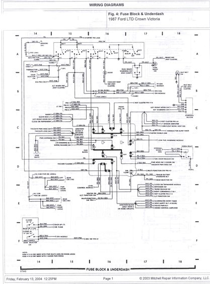 1985 Ford Crown Victoria LTD Wire Diagrams pictures, videos, and ...