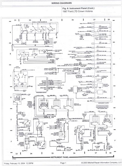 1985 ford crown victoria ltd wire diagrams picture supermotors net rh supermotors net