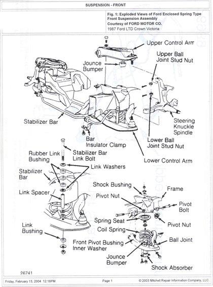 1985 ford crown victoria ltd suspension picture