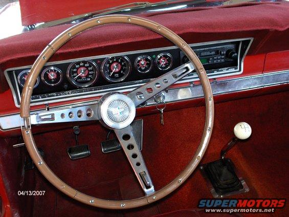 1966 Ford Fairlane New Custom Instrument Panel Picture
