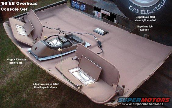 1983 ford bronco overhead console  u0026 dual visors pictures