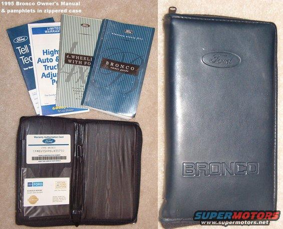 ford bronco manuals pamphlets scanned picture