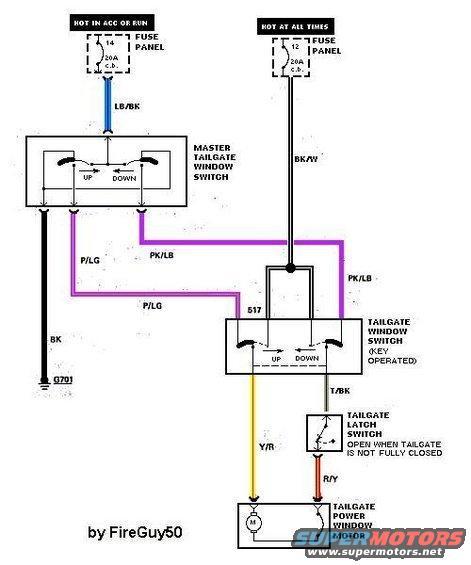 1996 Ford Bronco Rear Window Switch Wiring Diagram - Wiring Diagram ...