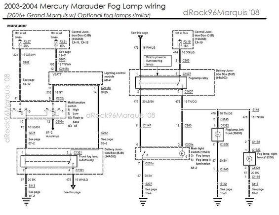 marauderfoglamps alt= wiring diagram 2006 mercury grand marquis the wiring diagram 2004 mercury grand marquis wiring diagram at eliteediting.co