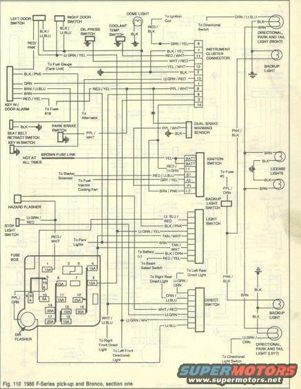 1982 bronco wiring diagram 1986 ford bronco wiring diagrams picture | supermotors.net #14