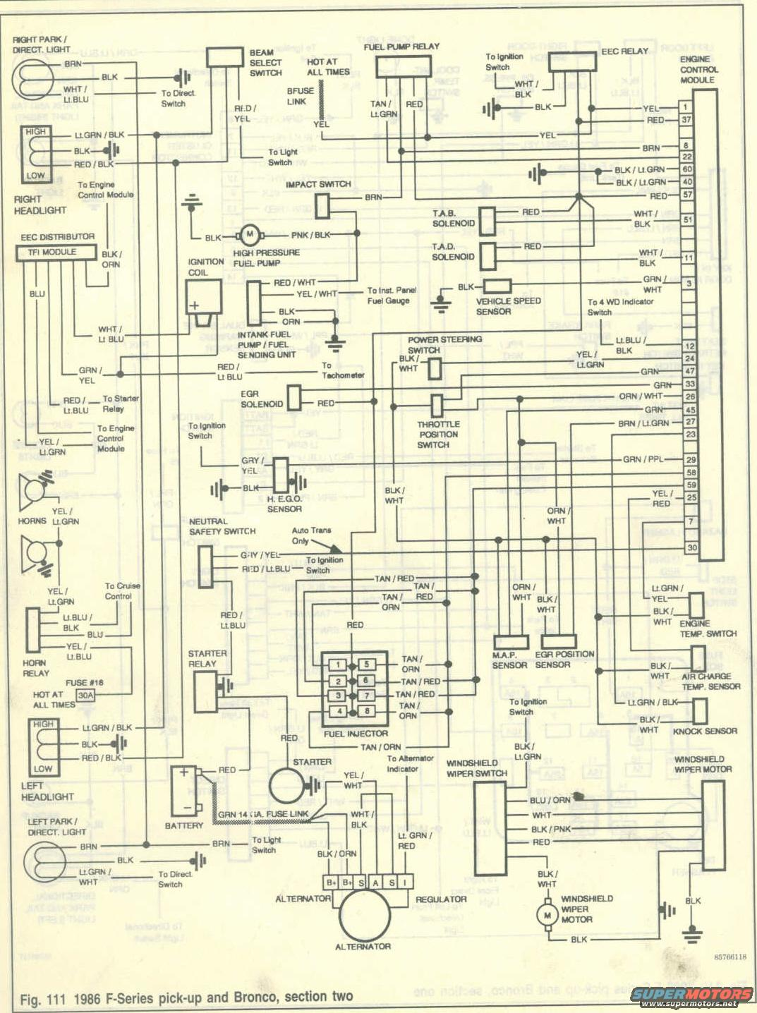 1986 Ford Bronco    Wiring    Diagrams picture   SuperMotors