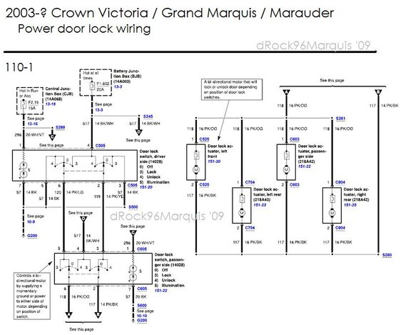 2003+cvgmqmmpowerlock alt= 1996 mercury grand marquis panther body chassis misc diagrams and 2001 Mercury Grand Marquis Fuse Box Diagram at crackthecode.co