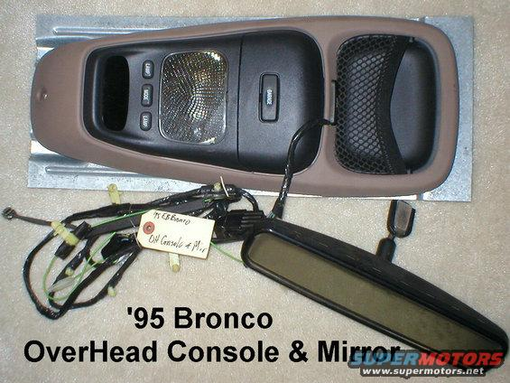 1983 Ford Bronco Overhead Console Amp Dual Visors Picture