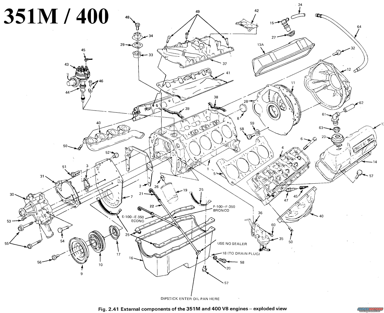 351m engine diagram basic electronics wiring diagram Ford F-150 Distributor Diagram 351m motor diagram data wiring diagrams1983 ford bronco diagrams picture supermotors net th400 diagram 351m motor