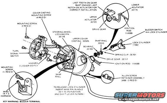 Columntilt Exploded on 1994 Ford F 150 Steering Diagram
