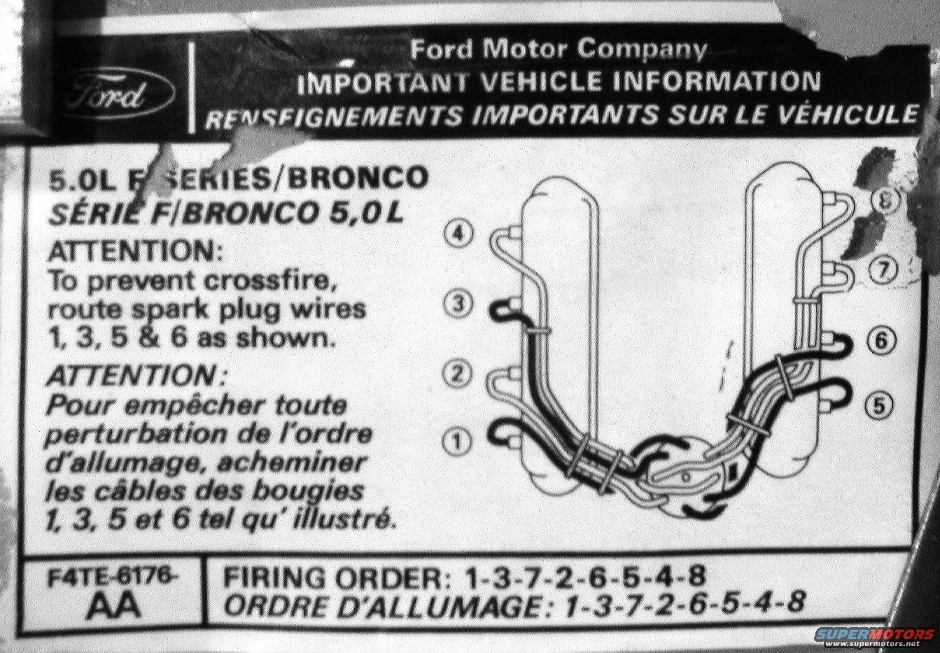 Ford 302 Spark Plug Wiring Diagram Smart Diagrams 2004 Freestar Firing Order 1983 Bronco Picture Supermotors Net Rh 2005 Escape