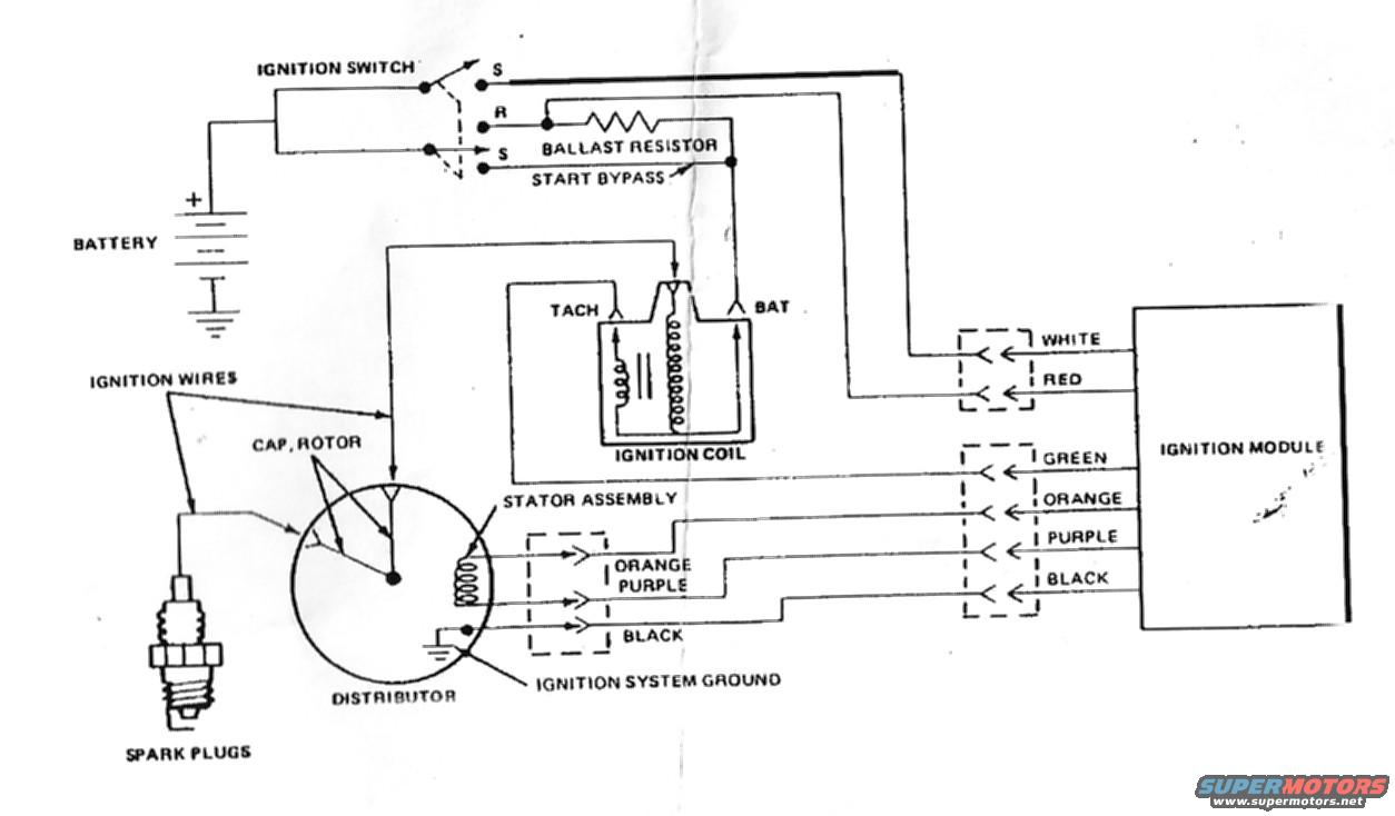 Chev 305 Hei Distributor Wiring Diagram Library Chevy Ballast Resistor Unilite Ford Mallory Dual Point