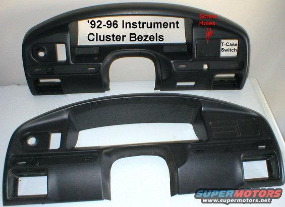 1996 f250 instrument cluster bezel