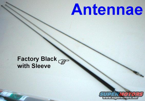antennae.jpg 80-96 Antennae; upper 2 are stainless; lower is factory powdercoated with sleeve