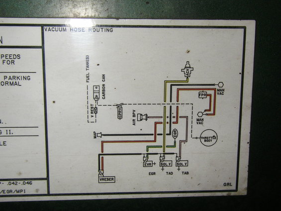 Emmisions Label on vacuum lines diagram for 89 ford bronco