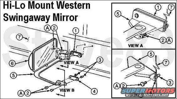 mirrorhilo.jpg Hi-Lo Western Breakaway Side Mirror