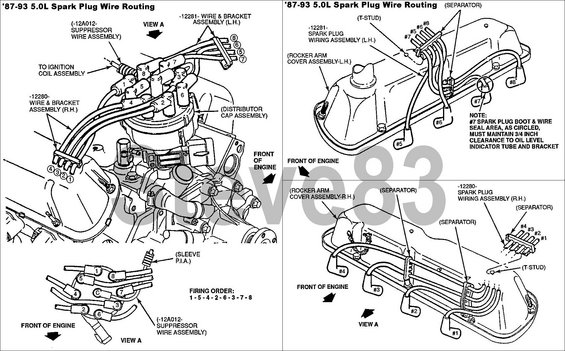 1993 ford f150 5 8 spark plug wire diagram html