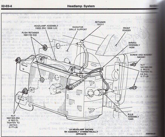 87 91 headlight housing removal ford bronco forum. Black Bedroom Furniture Sets. Home Design Ideas