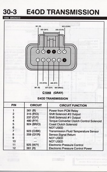 1990 Ford Bronco E4od Transmission Picture