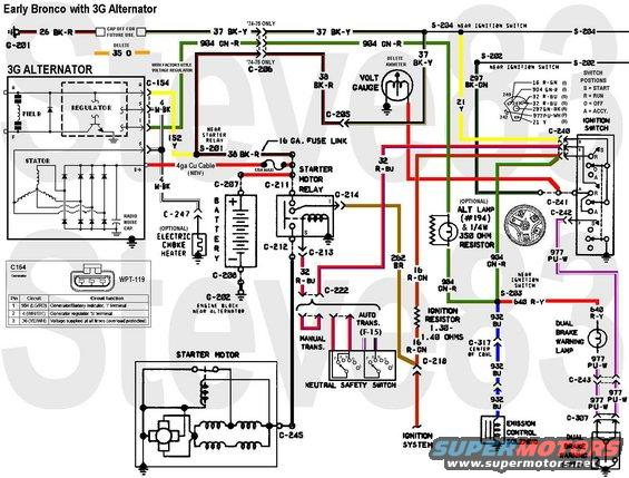 1976 Ford Bronco Tech Diagrams Pictures Videos And Sounds Supermotors Net
