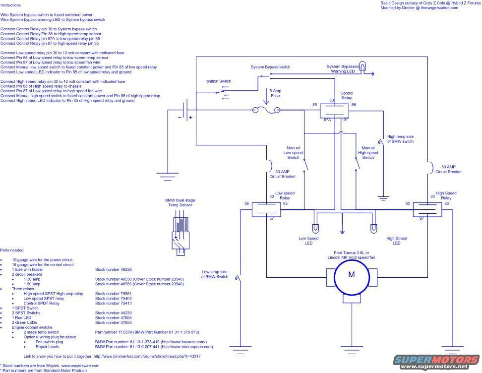 30 Amp Relay Wiring Diagram Electric Fan