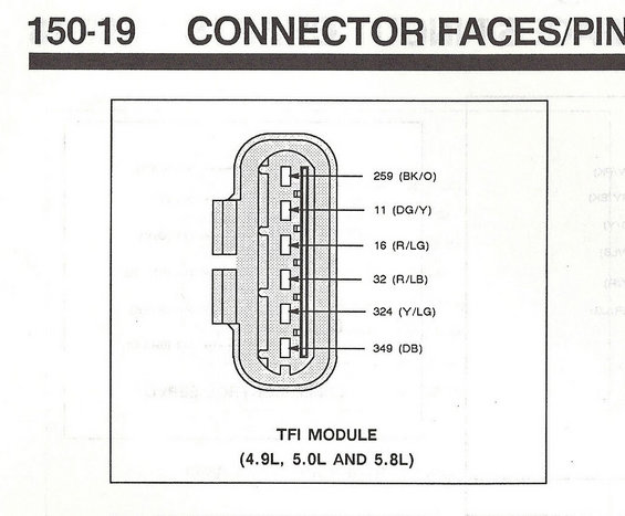 1990 tfi connector2 ford tfi ignition control modules page 6 ford bronco forum ford tfi wiring schematic at crackthecode.co