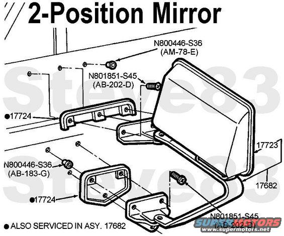 1983 ford bronco side mirrors picture