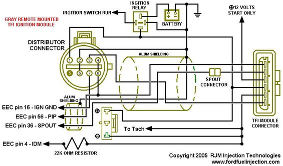 Tfi Module Schematic Gray Remote Mount