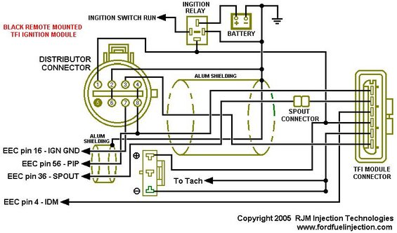 tfi module schematic black remote mount ford tfi ignition control modules page 7 ford bronco forum 1991 ford f150 ignition wiring diagram at edmiracle.co