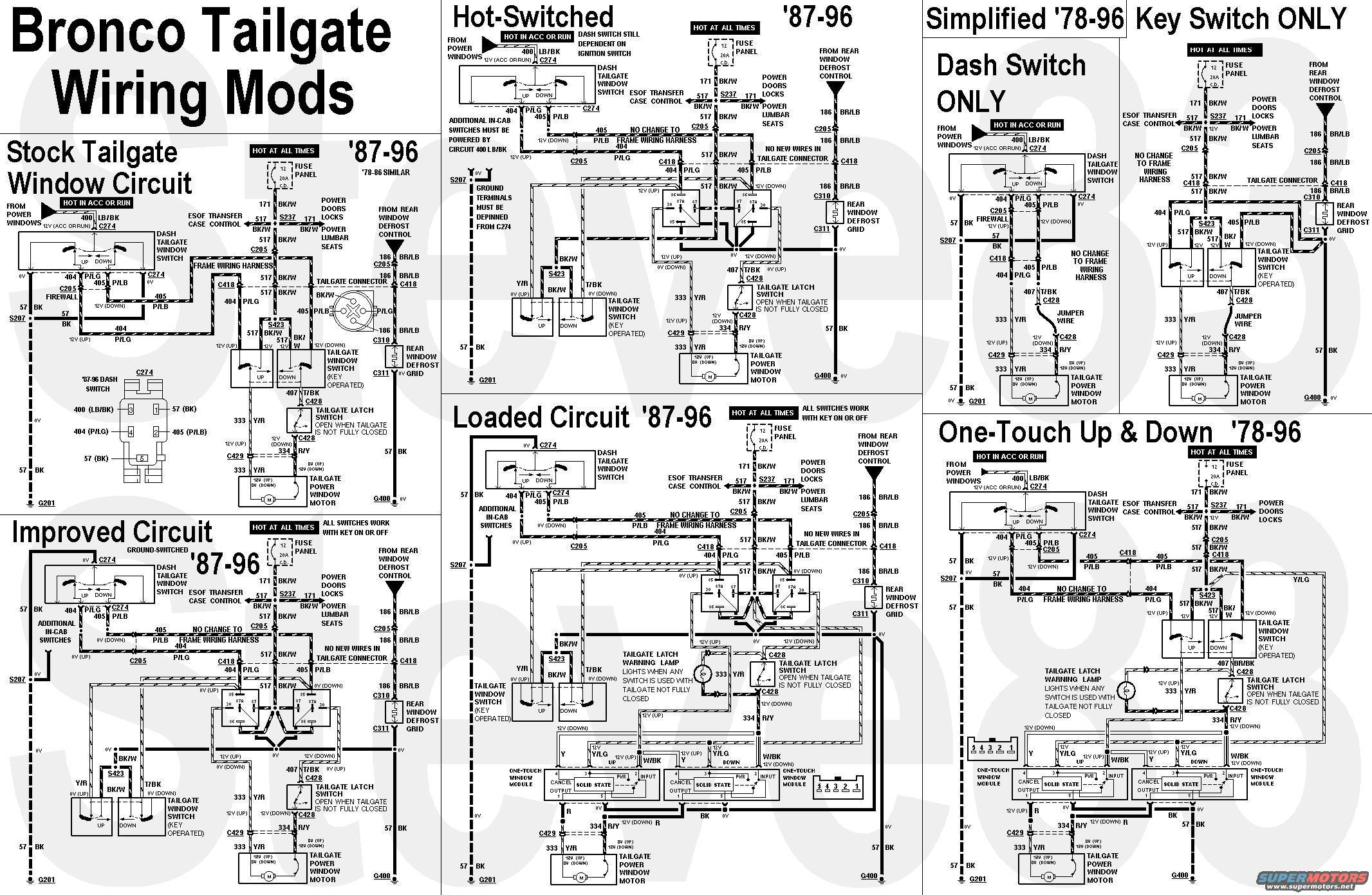 96 Bronco Tailgate Wiring Diagram 33 Images Ecm Tgcircuitmods Window Lift Key Switch Bypass Ford Truck Enthusiasts 1996