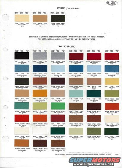 1979 Ford Truck Interior Colors