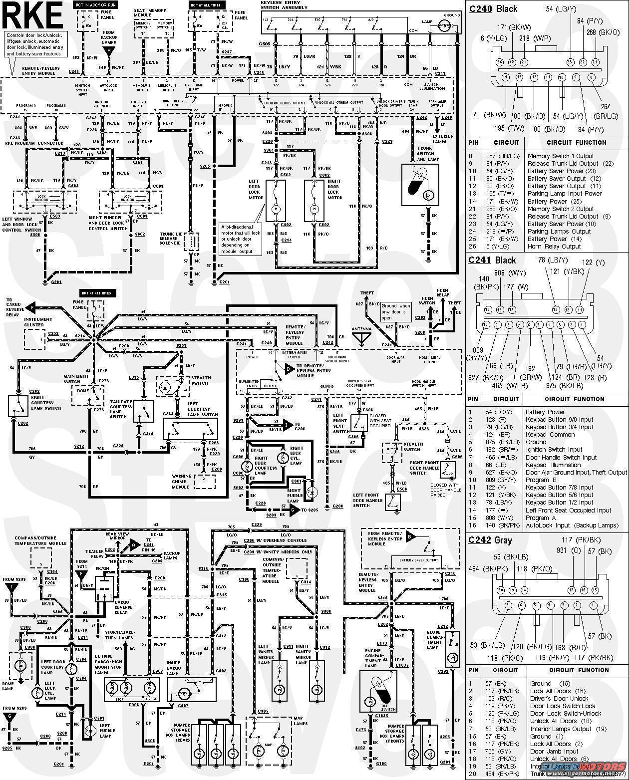 ford bronco door wiring diagram